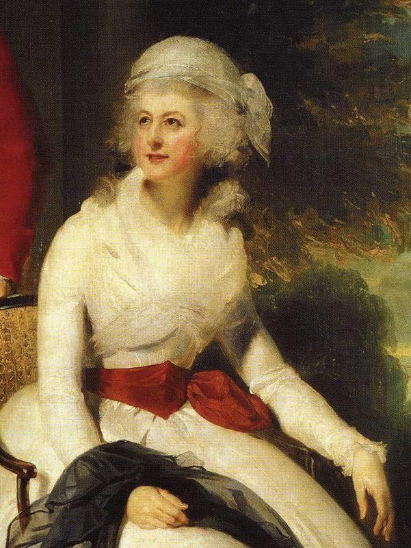 Sir Thomas Lawrence. Mr and Mrs John Julius Angerstein. Detail.