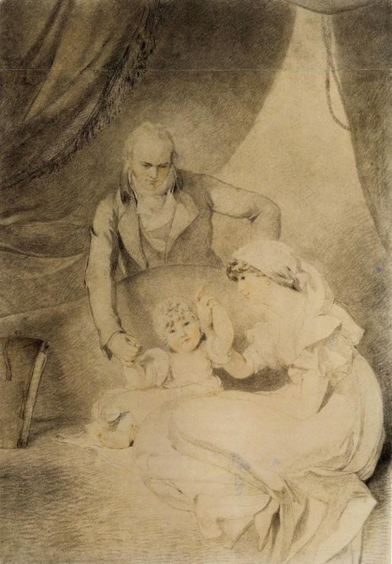 Sir Thomas Lawrence. Mr and Mrs John Allnutt with Their Daughter Anna.
