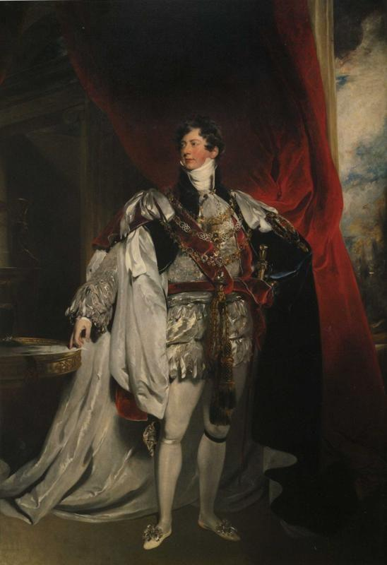 Sir Thomas Lawrence. The Prince Regent in Garter Robes.