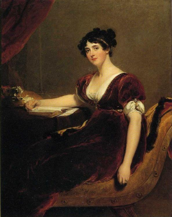 Sir Thomas Lawrence. Portrait of Mrs. Isaac Cuthbert.