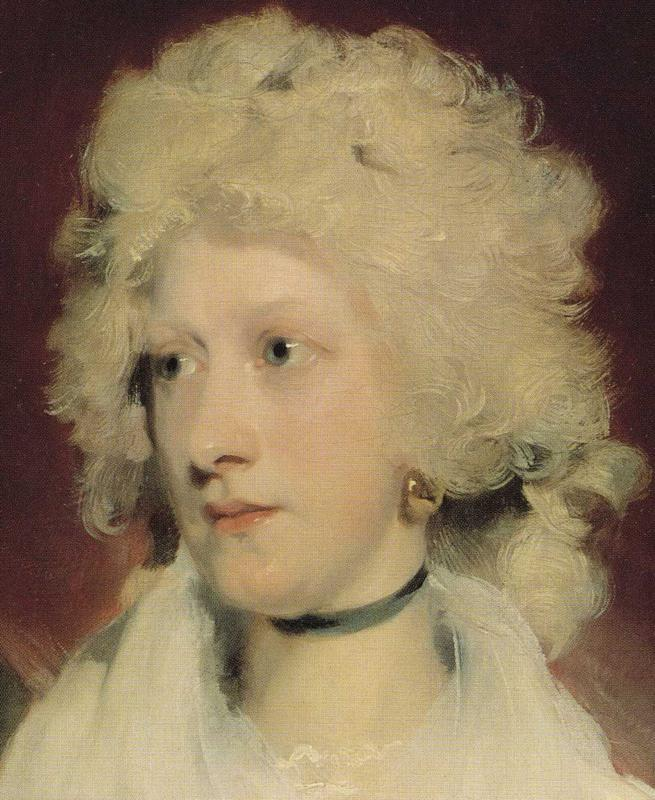 Sir Thomas Lawrence. Martha Carr. Detail.