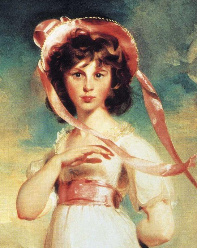 Sir Thomas Lawrence. Sarah Barrett Moulton ('Pinkie') (1783-95). Detail.