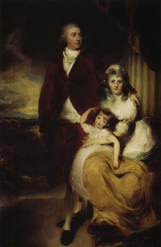 Sir Thomas Lawrence. Henry Cecil, 10th Earl of Exeter, Later 1st Marquess, with His Wife Sarah, Countess of Exeter, and Daughter, Lady Sophia.