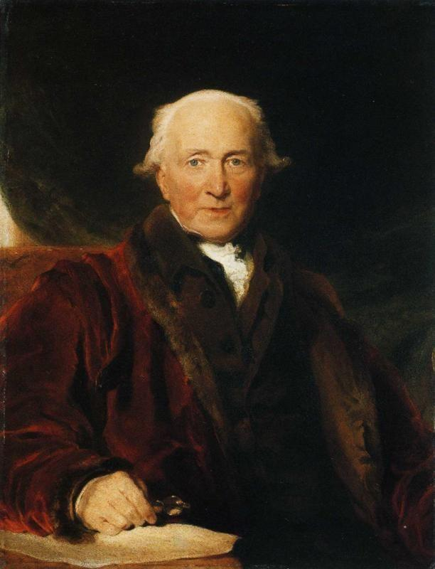 Sir Thomas Lawrence. Portrait of John Julius Angerstein, Aged Over 80.