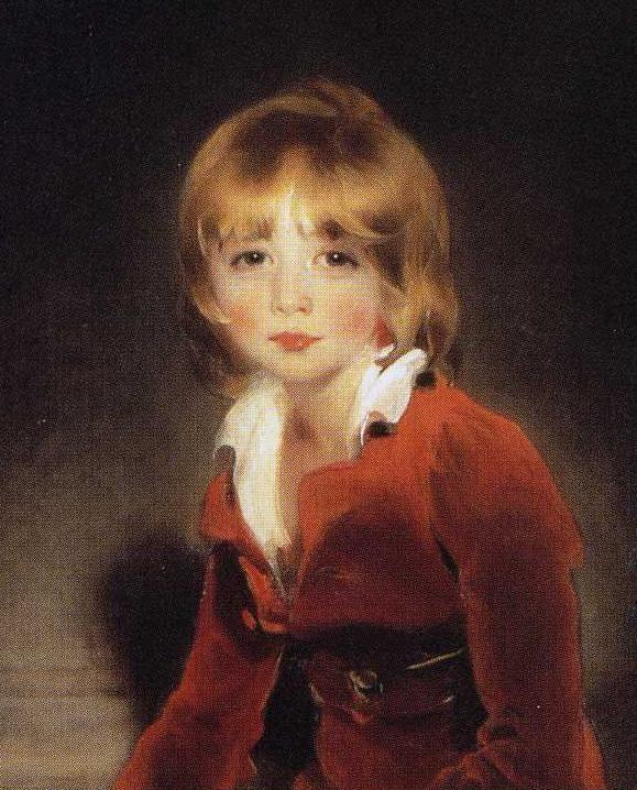 Sir Thomas Lawrence. The Children of Ayscoghe Boucherett. Detail.