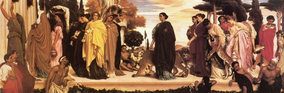 Frederick Leighton. The Syracusan Bride Leading WIld Animals in Procession to the Temple of Diana.