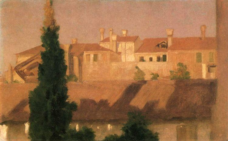 Frederick Leighton. Study of Houses. Venice.