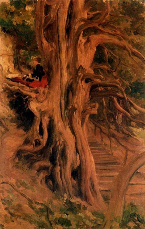 Frederick Leighton. Trees at Cliveden.