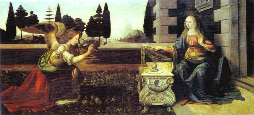 Leonardo da Vinci. The Annunciation.