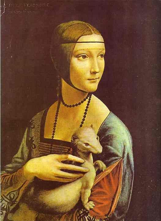 Leonardo da Vinci. Portrait of Cecilia Gallerani (Lady with an Ermine).