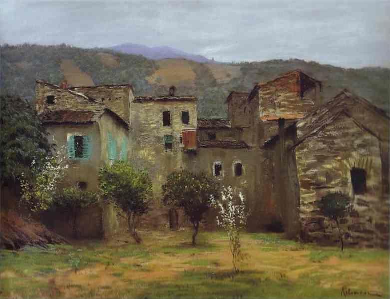 Isaac Levitan. In the Vicinity of Bordiguera, in the North of Italy.