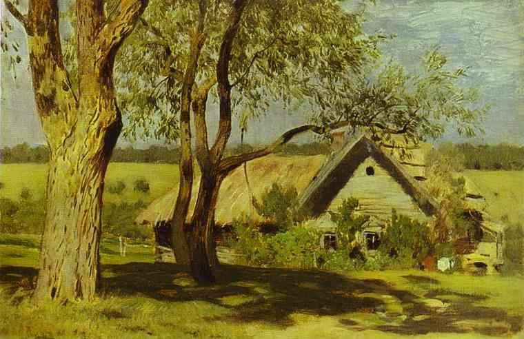 Isaac Levitan. House with Broom-Trees.
