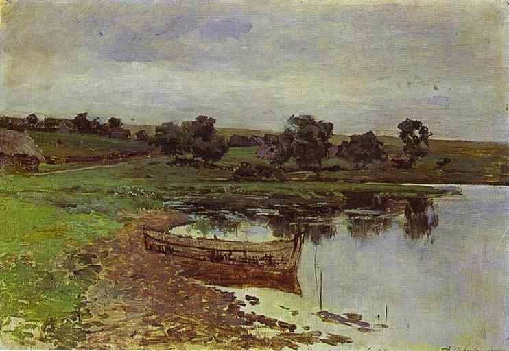 Isaac Levitan. By the Riverside.