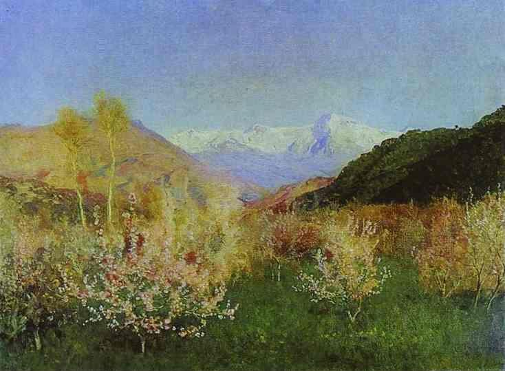 Isaac Levitan. Springtime in Italy.