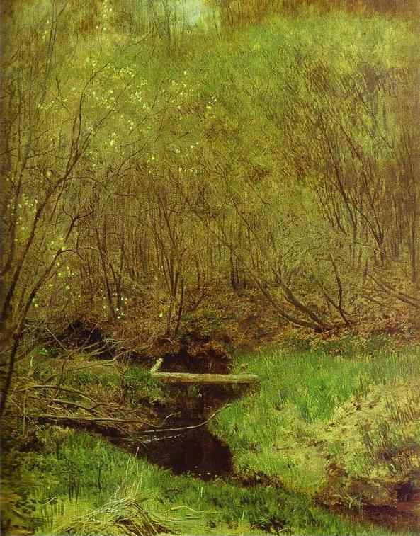 Isaac Levitan. Spring in the Forest.