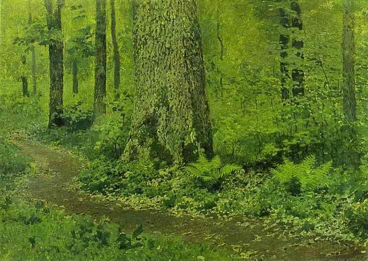Isaac Levitan. Footpath in a Forest, Ferns.