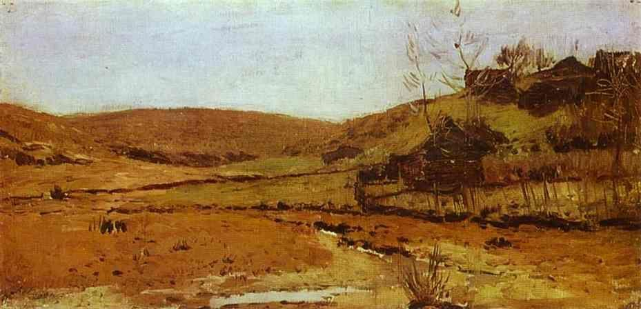 Isaac Levitan. Valley of a River.