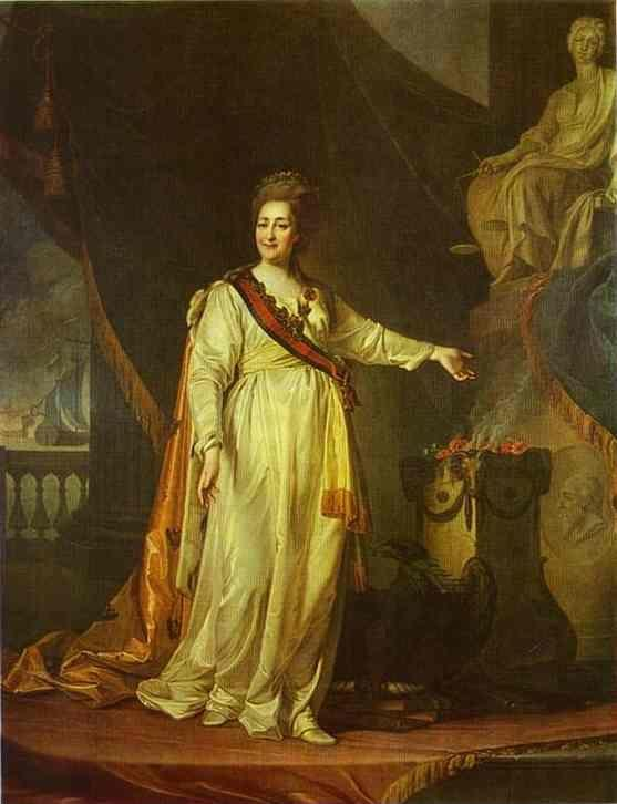 Dmitry Levitzky. Portrait of Catherine II as Legislator in the Temple of the Goddess of Justice.