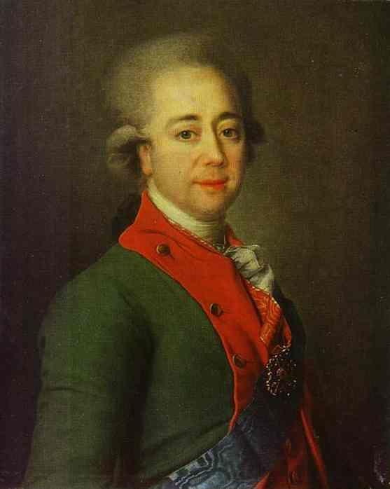 Dmitry Levitzky. Portrait of Baron A. N. Stroganoff.