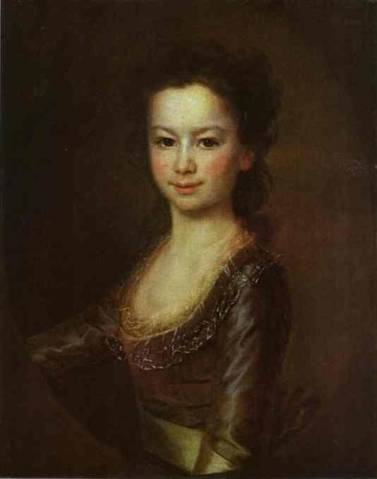 Dmitry Levitzky. Portrait of Countess Maria Vorontsova as a Child.