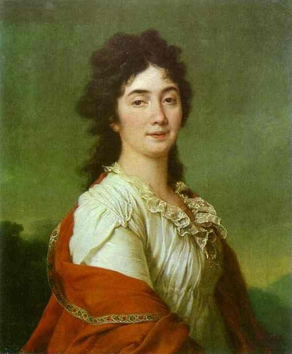 Dmitry Levitzky. Portrait of Countess A. S. Protasova.