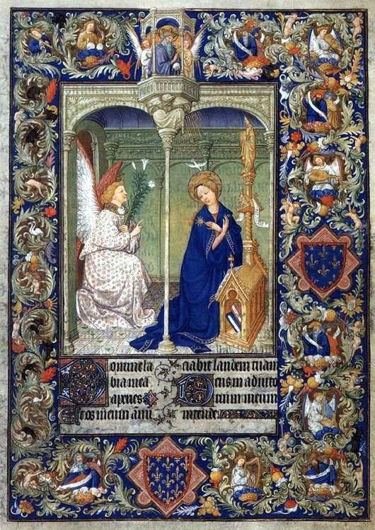 Limbourg Brothers. The Belles Heures of Jean de France, Duke de Berry. Annunciation.
