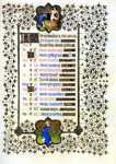 Limbourg Brothers. The Belles Heures of Jean de France, Duke de Berry. September.