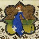 Limbourg Brothers. The Belles Heures of Jean de France, Duke de Berry. September. Detail.