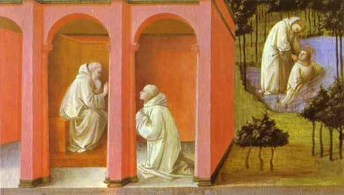 Fra Filippo Lippi. St. Benedict Orders St. Maurus to the Rescue of St. Placidus.