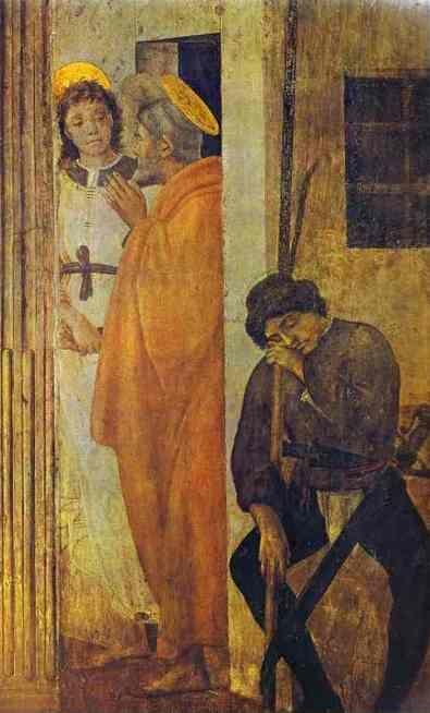 Filippino Lippi. The Liberation of St. Peter from Prison. Detail.