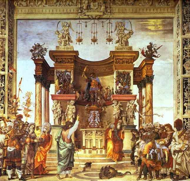 Filippino Lippi. Life of St. Philip: St. Philip Exorcising in the Temple of Hieropolis.