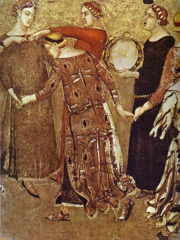 Ambrogio Lorenzetti. Allegory of Good Government: Effects of Good Government in the City. Detail.