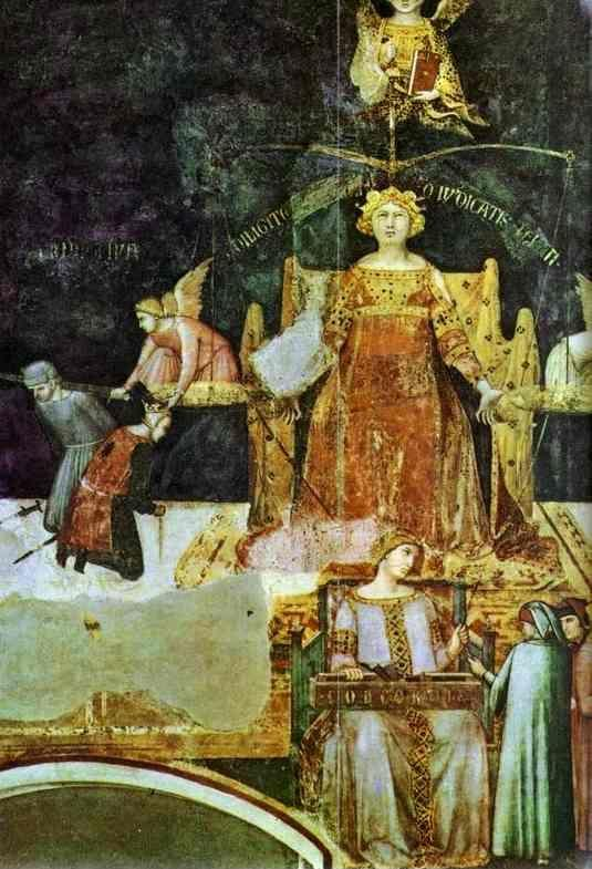 Ambrogio Lorenzetti. Allegory of Good Government. Detail.