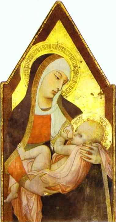 Ambrogio Lorenzetti. Madonna of the Milk.