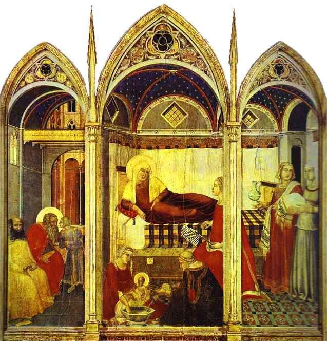 Pietro Lorenzetti. The Nativity of the Virgin.