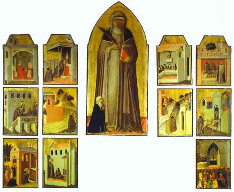 Pietro Lorenzetti. The Blessed Humility and Eleven Stories from Her Life.