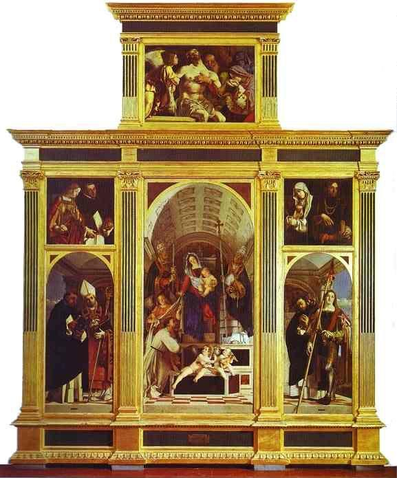 Lorenzo Lotto. St. Dominic Polyptych.
