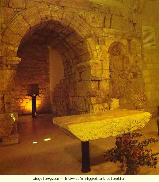 Jerusalem the arch of ecce homo in the convent of the