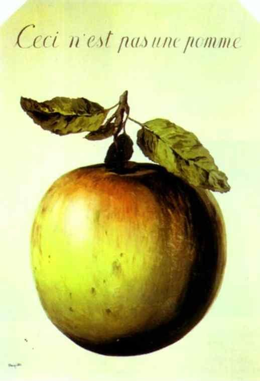René Magritte. This is Not an Apple.