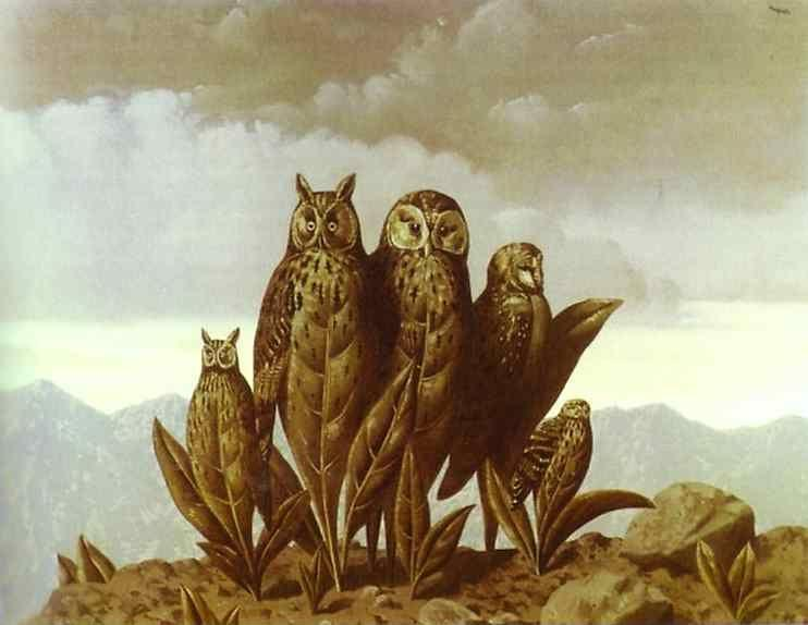 René Magritte. The Companions of Fear.