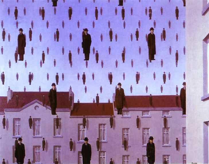 René Magritte. Gonconda.