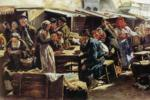 "Vladimir Makovsky. Lunch. Study for the painting ""Flea market in Moscow""."