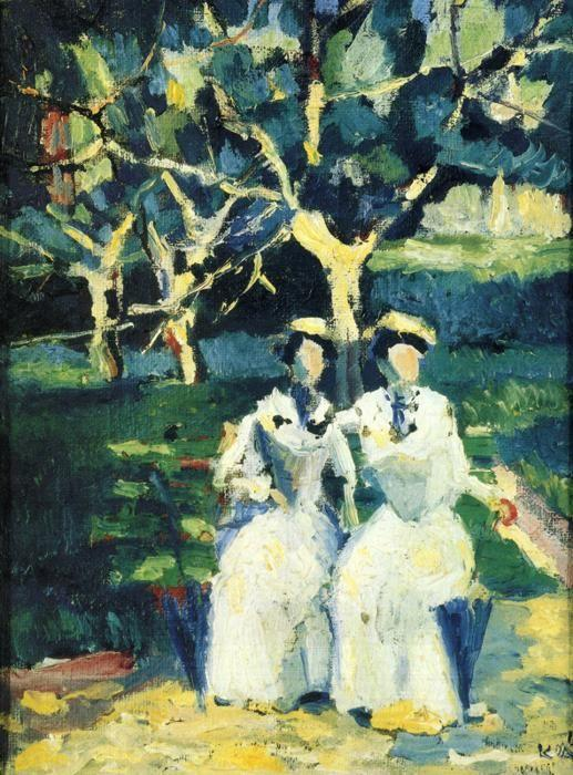Kazimir Malevich. Two Women in a Garden.