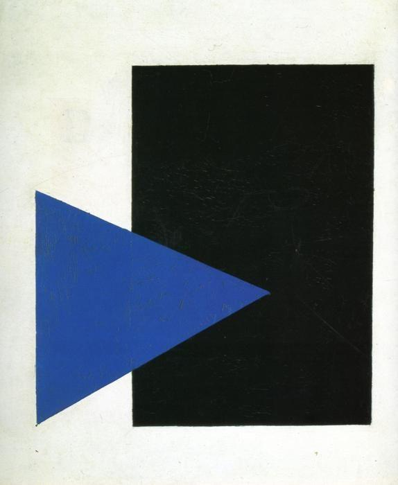 ... . Suprematism with Blue Triangle and Black Square - Olga's Gallery