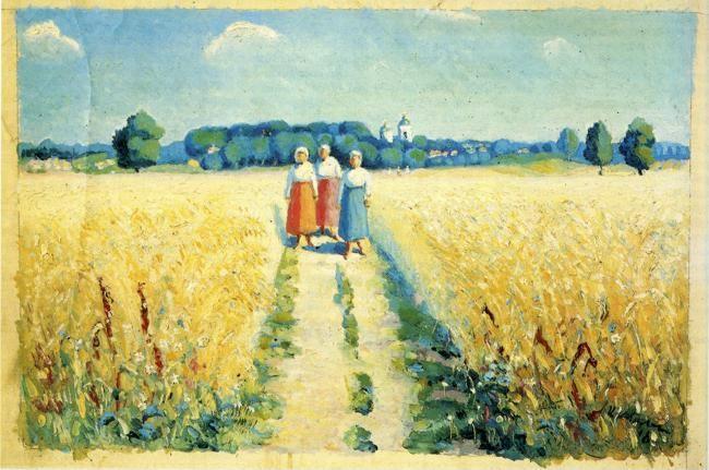 Kazimir Malevich. Three Women on the Road.