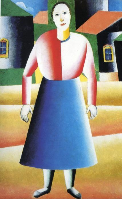 Kazimir Malevich. Girl in the Country.