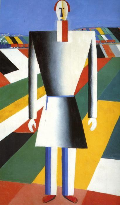 Kazimir Malevich. Peasant in the Fields.