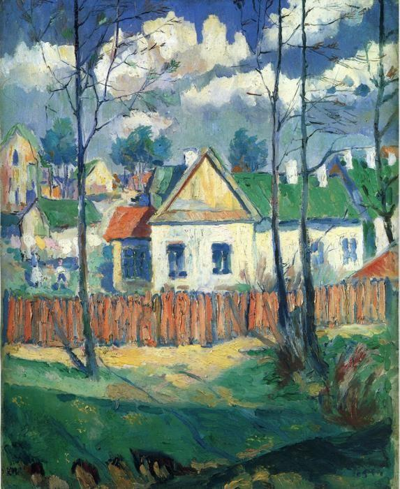 Kazimir Malevich. Spring. Landscape with a Cottage.