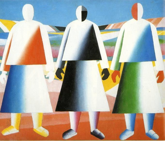 Kazimir Malevich. Girls in the Fields.