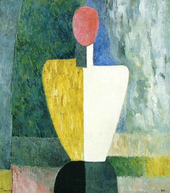 Kazimir Malevich. Torso (Figure with  Pink Face).